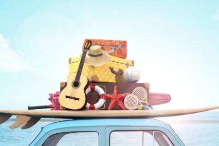 afbeelding vakantie met auto