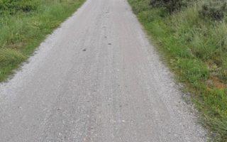 op fietspad in Ameland