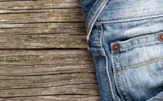 bovenkant van de spijkerbroek