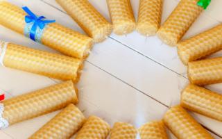 bijenwas kaarsen, in een cirkel